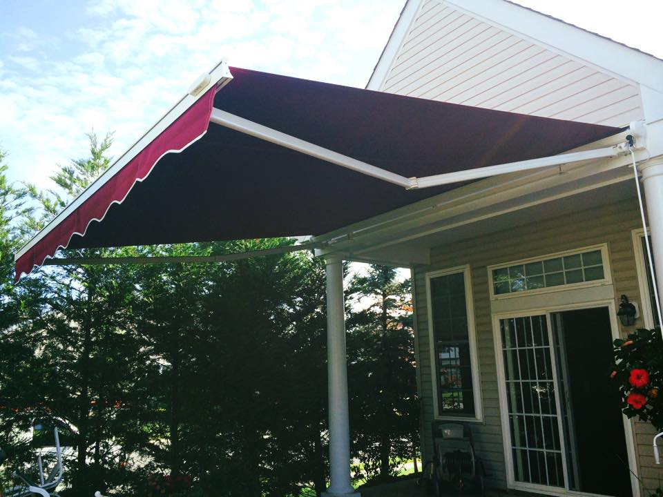 a awnings retractable warehouse awning in purchase s ny the nj