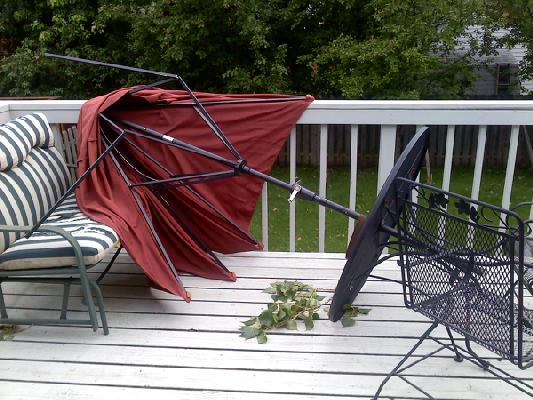 Retractable Awnings Are Better For Patios Than Free Standing Umbrellas U2013  Safer Too!